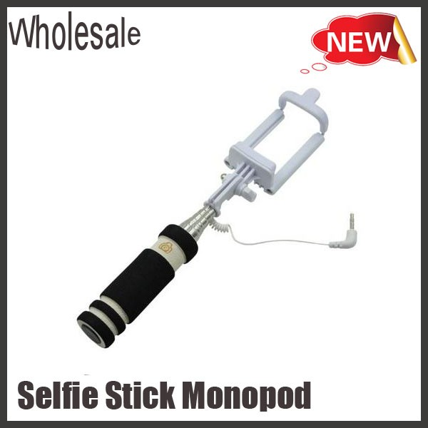 2016 low price selfie stick extendable monopod selfie stick with shutter blue. Black Bedroom Furniture Sets. Home Design Ideas