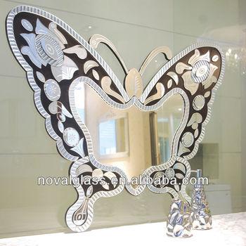 Espejos decorativos de pared mariposa en forma de espejos for Modelos de espejos decorativos