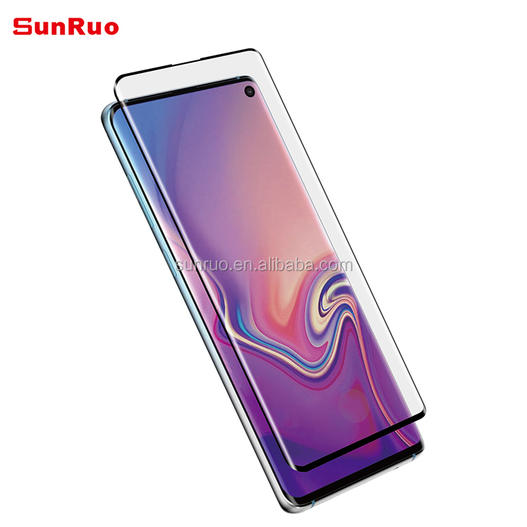 Ultrasonic Fingerprint Unlock 3D Tempered Glass Screen Protector Compatible with Samsung Galaxy S10 Plus
