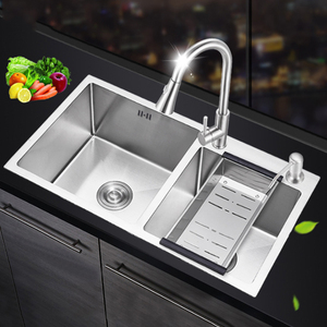 Best quality promotional 201 304 SS Stainless Steel Sink For Kitchen