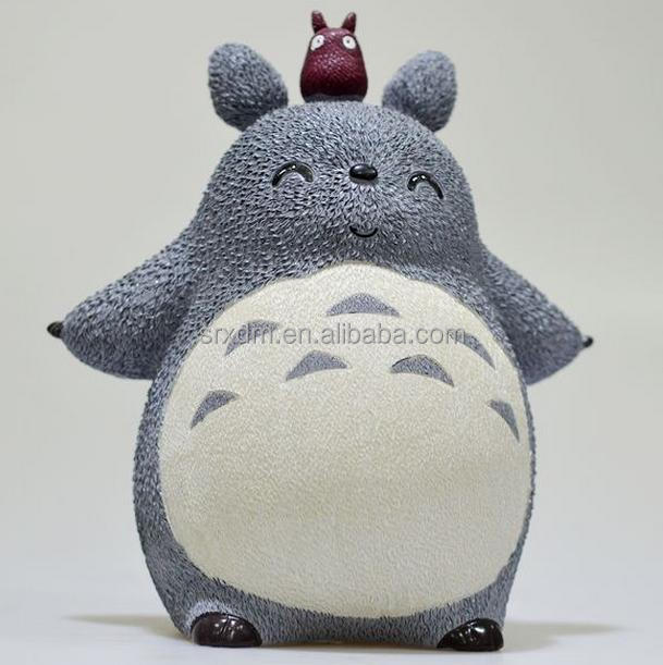 customized kawaii resin anime figures/customized japnese cartoon totoro resin figures/high quality resin figures China supplier