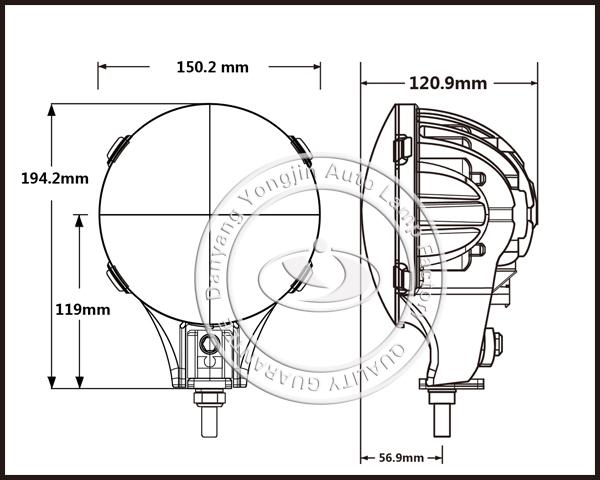 6 inch led fog light 60w round led driving light 12v 24v