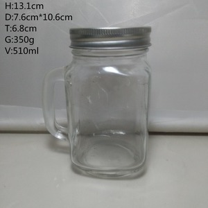510ml 17oz Mason Jar Cute Jar Screw Cap Straw