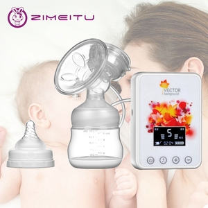 High standard feeding led screen electric silicone real bubee good breast enlargement pump