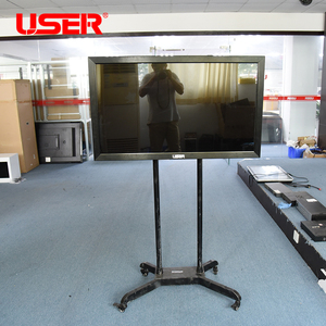 portable 65 inch infrared interactive whiteboard with wheels and Built in i5 cpu computer
