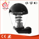 Black painted clear plastic dome outdoor wall light with stainless steel reflector