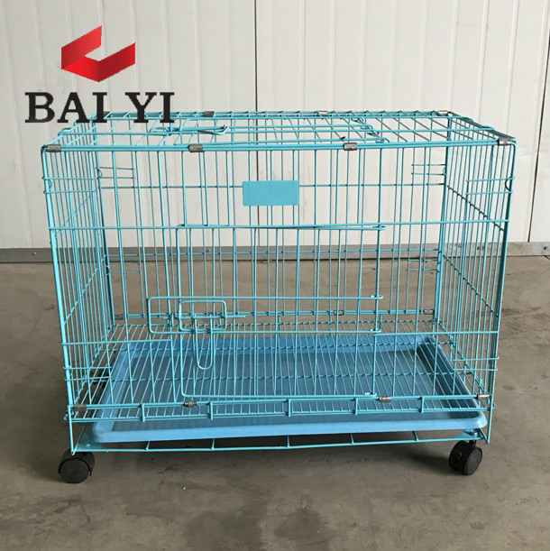 Dog Cage Crate Folding Kennel With