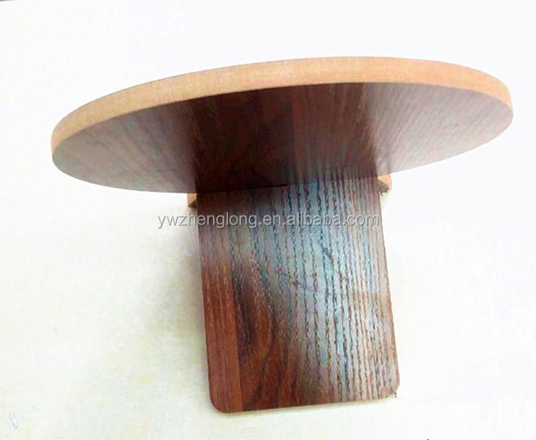 Le nouveau cycle simple bureau en bois de couleur miroir portable