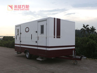 Customized Portable Tiny Luxury Trailer Public Toilet Caravan for Normal/VIP/VVIP