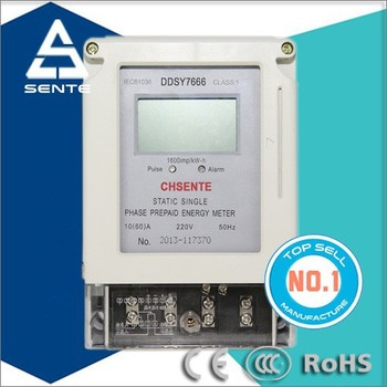 Ddsy722 Type Single Phase Electric Meter Prepaid Machine With Ic ...