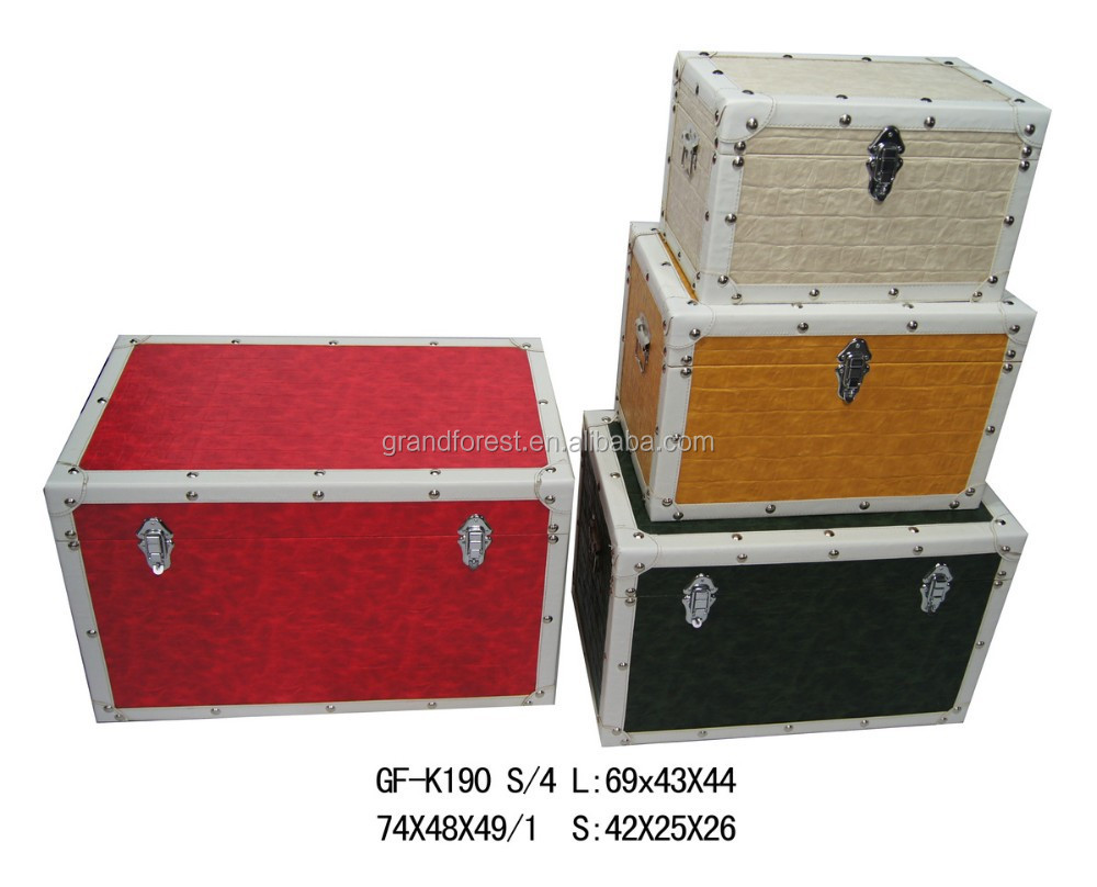 Modern Faux Leather Storage Trunk   Buy Storage Trunk,Antique Chinese Leather  Trunk,Leather Trunk Table Product On Alibaba.com