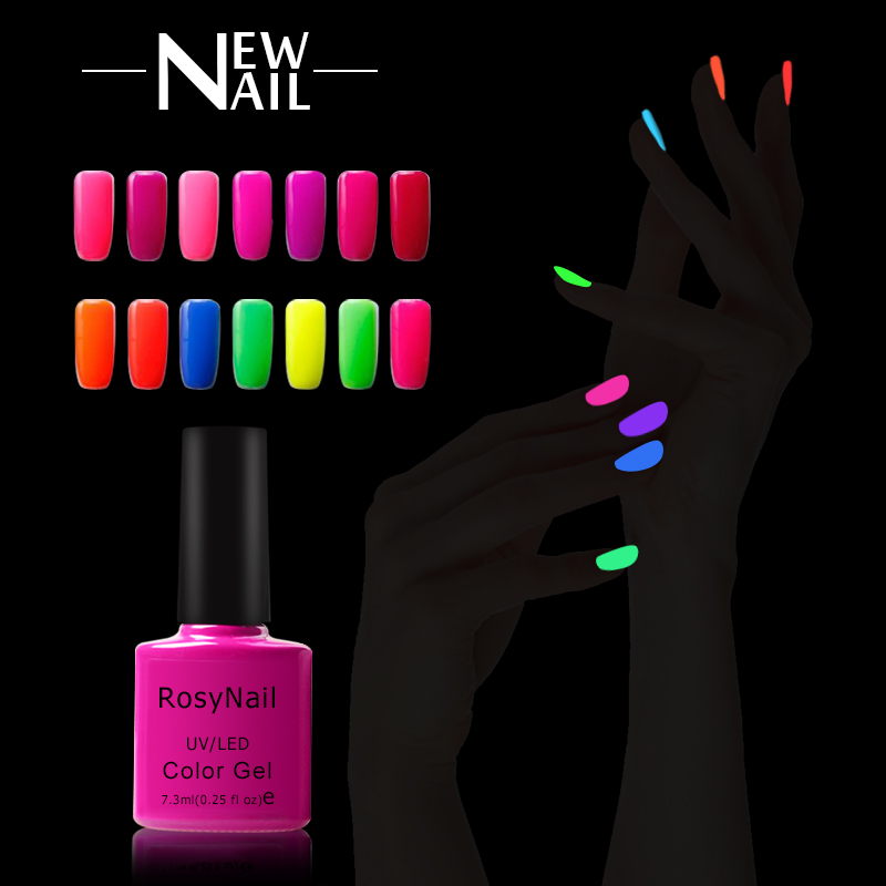 Cina gel Costruttore uv del gel di colore glow in dark neon nail polish gel