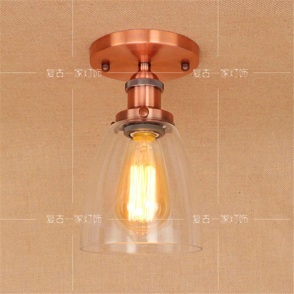 DengWu Pendant Lights Chandeliers Ceiling Lights Personalized creative corridor staircase retro nostalgic simple American style transparent glass ceiling