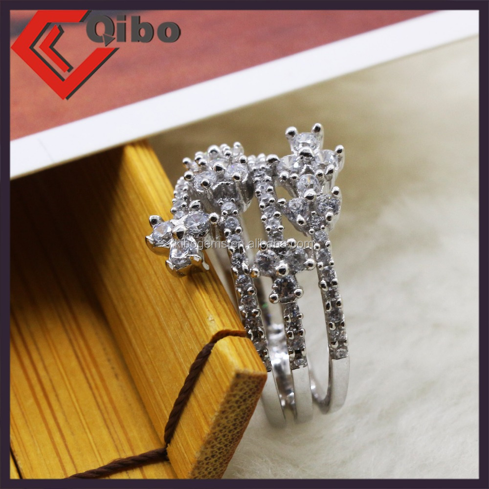 Size 5/6/7/8//9 jewelry white zircon plated AAA Cubic Zirconia CZ Women Ring