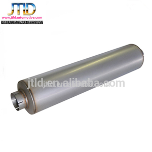Aluminized round chambered exhaust muffler for truck