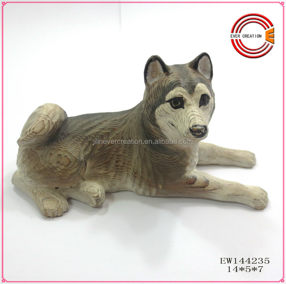 2015 new arrival wooden craft dog/ dog decoration