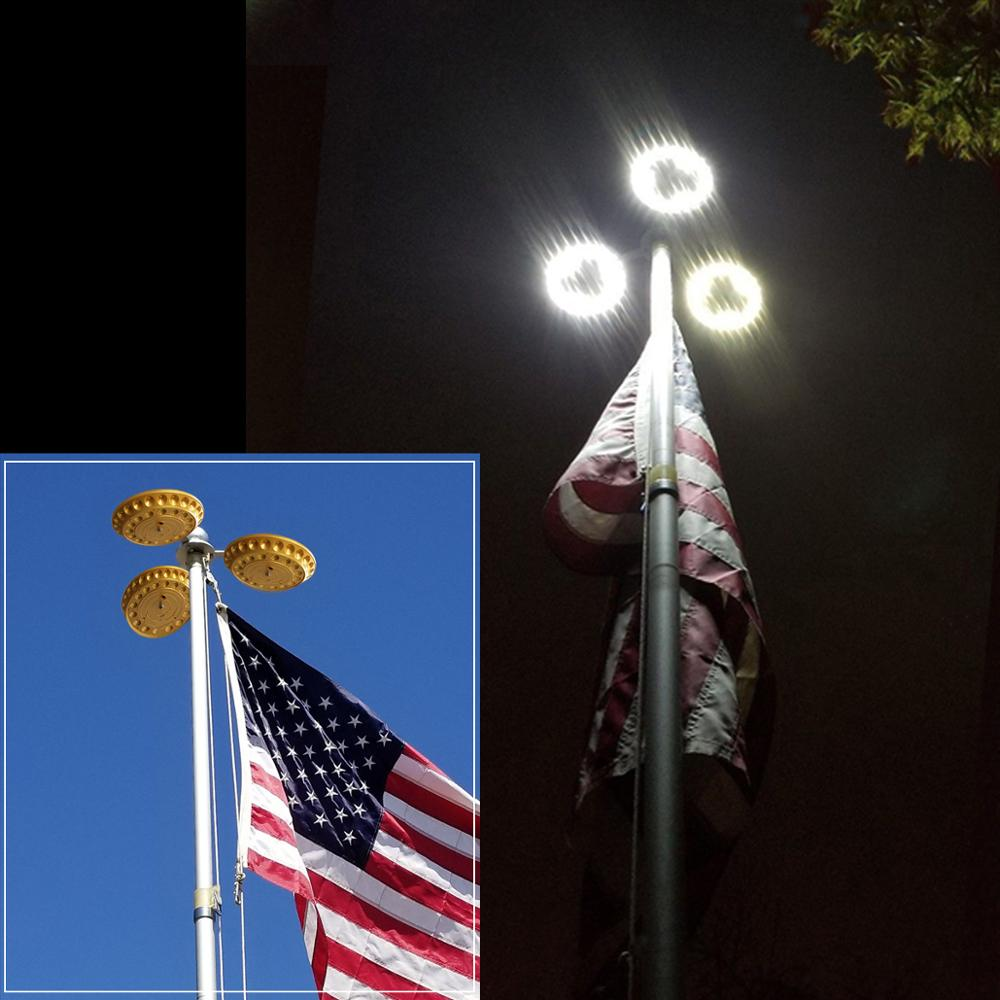 Led Super Bright Flag Pole Lamp Outdoor