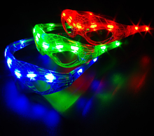 Intermitente LED luminiscentes <span class=keywords><strong>araña</strong></span> <span class=keywords><strong>gafas</strong></span>
