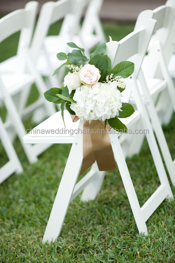 White wooden design folding outdoor wedding chairs