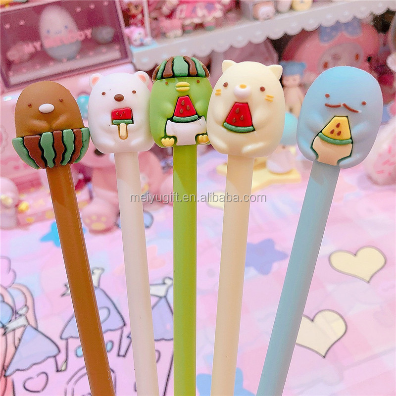 creative interesting Japanese style candy color cute animal bear penguin <strong>pen</strong> for girlfriend's gift