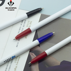 Cheap wholesale two head colored simple promotional logo ballpen CH-6565