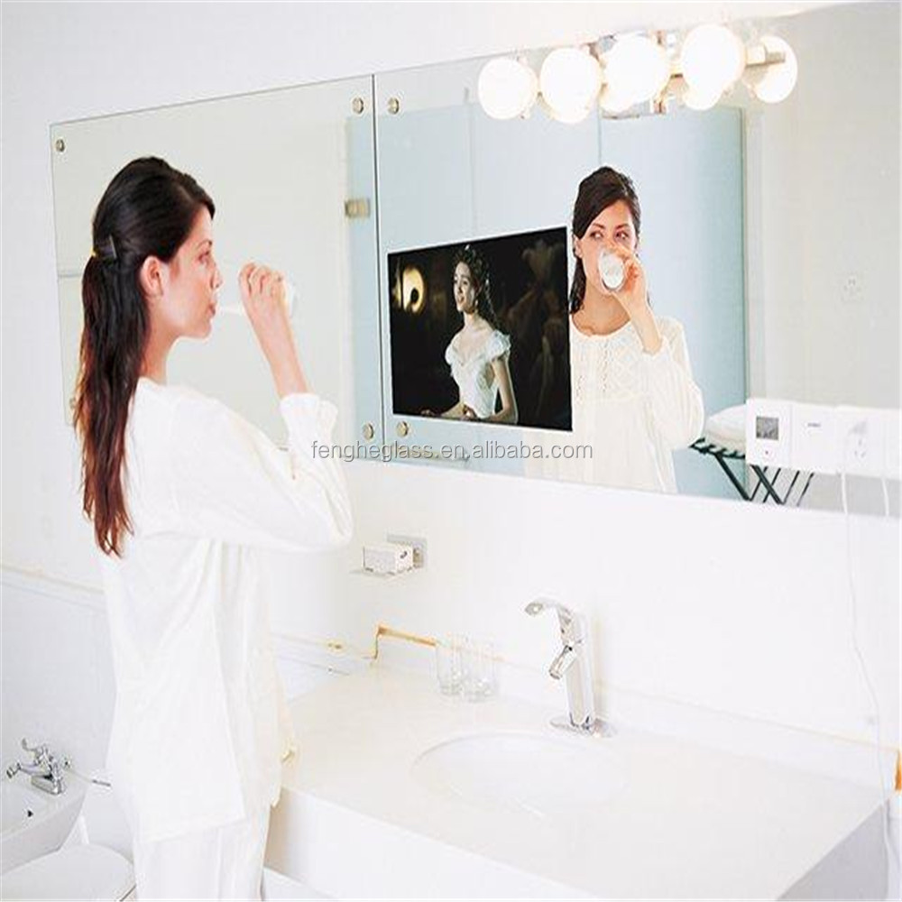 2-12mm LCD Advertising Smart Magic Mirror TV screen glass