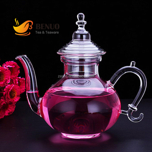 Antique Single Round Glass Wine Decanter With Handle