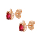 W-20008 xuping elegant apple shaped red color exquisite stone stud earring