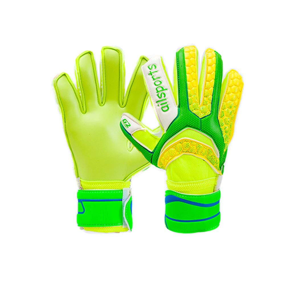 Get Quotations · DIBIO Unisex Goalie Goalkeeper Gloves Soccer Goalies  Gloves for Adults and Children With Finger Spines to 75cff7998188