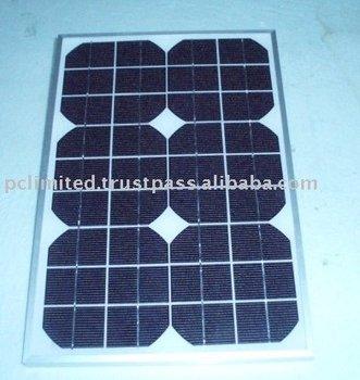 Solar Panel Monocrystalline Or Poly Type 18wp 20wp 25wp
