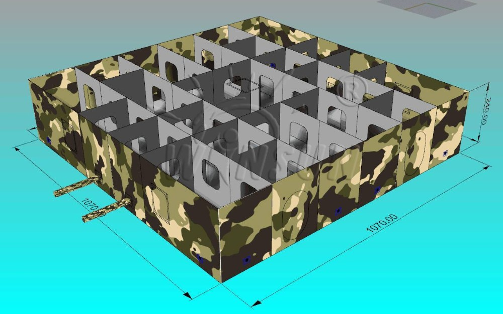 Wholesale Camouflage Inflatable Laser Tag Game Equipment