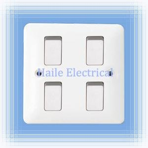 10A 4 gang 2 way wall switch single plate ( British standard White range)