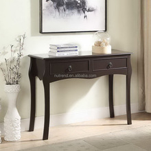 French Style Wooden wall Console Table with curved legs design
