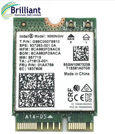 Dual Band Wireless AC 9560 for Intel 9560NGW 802 11ac NGFF Key E 2 4G/5G  2x2 WiFi Card Bluetooth 5 0 FRU 01AX770, View 9560NGW, Product Details from