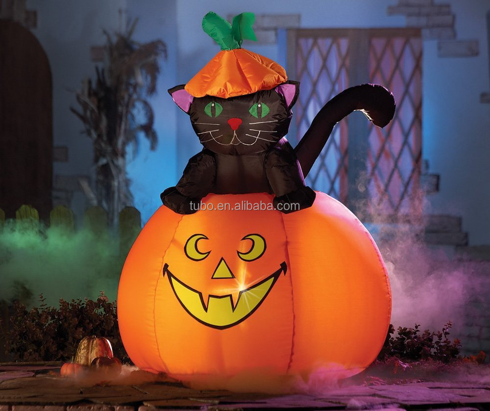 hot sale inflatable halloween black cat for halloween decoration