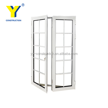 Double glazing thermal break used exterior french door for for Double glazed french doors for sale