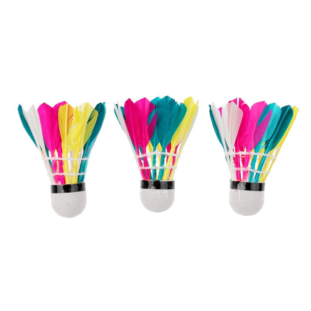 Jili Online Set of 3 Mixed Color Shuttlecocks for Training or Game - Increase More Fun for You or Your Family