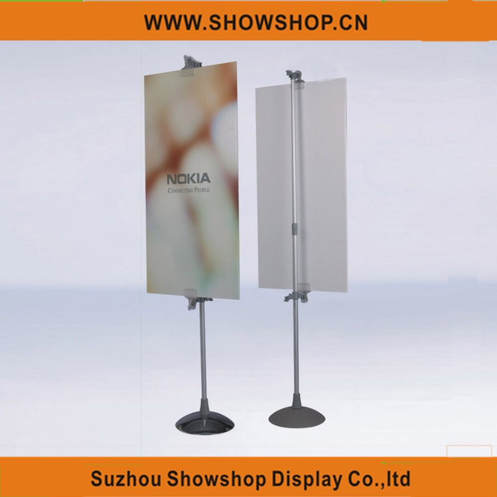 Double Sides poster shelf display