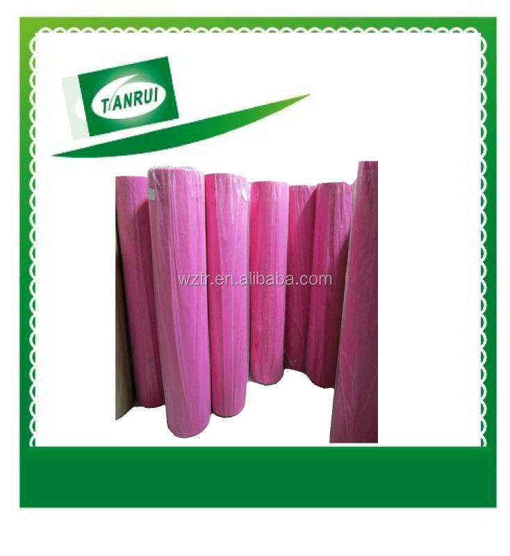 Recycled 100% pp spunbonded agriculture use non-woven chemical fibre raw material rolls for shoe cover