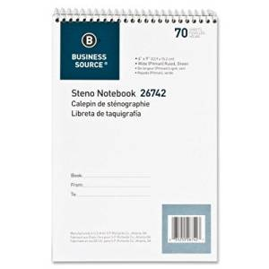 "70 Sheet Steno Ruled Notebook [Set of 4] Size: 0.3"" H x 6"" W x 9.3"" D"