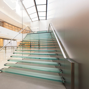 Railings indor glass railing floating staircase straight staircase system