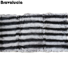 Factory Wholesale Black And White Dyed Chinchilla Rex Fur Plate