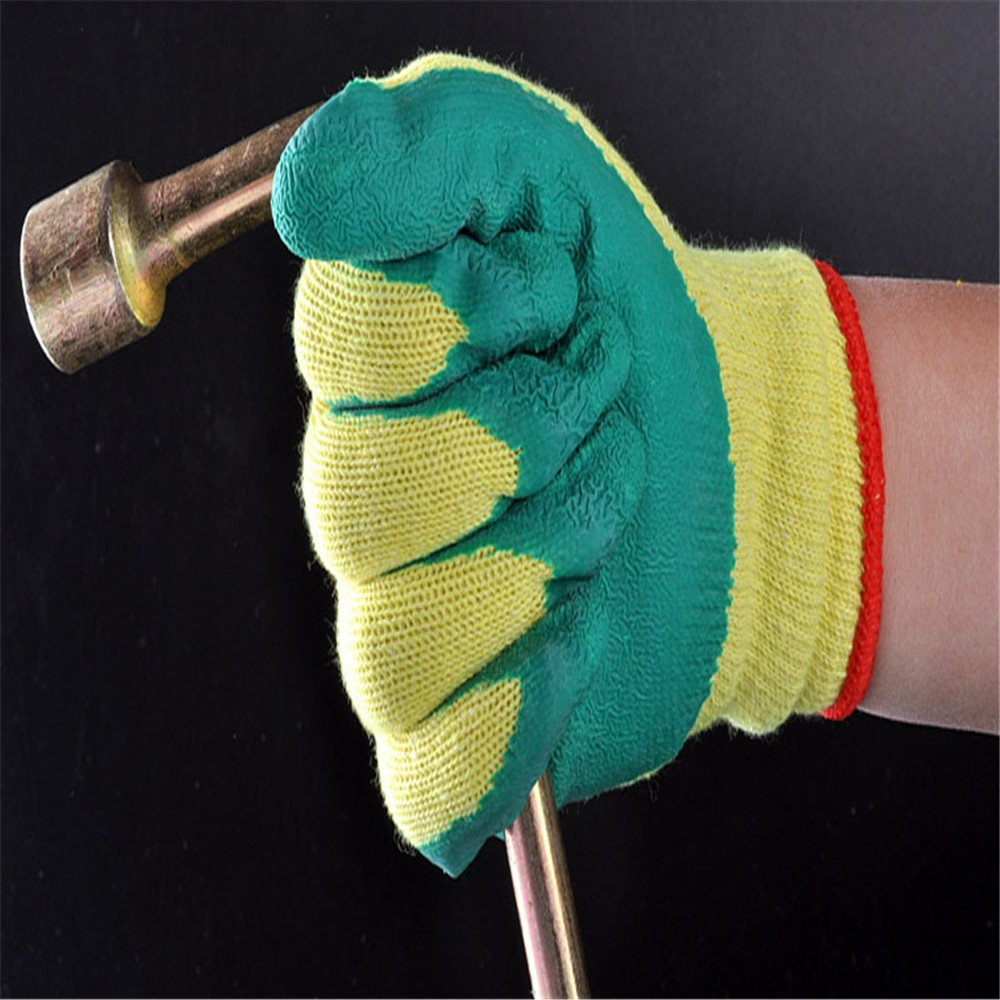 MHR 10g cheap TC yarn liner latex palm coated landscaping work glove
