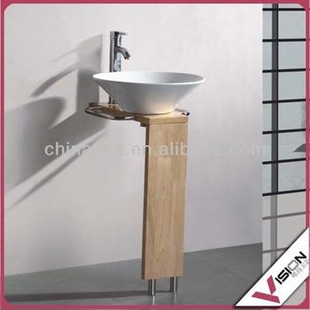 Plywood Corner Bathroom Cabinet Gl Top Wash Basin Vanity