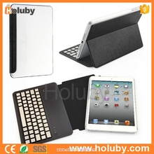 Ultra Slim Crazy Horse Pattern Leather Flip Stand Aluminium Alloy Bluetooth Keyboard For iPad Mini 2 With PC Protective Shell