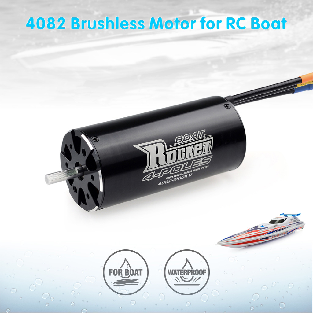 Rocket 4082 sensorless brushless dc motor for toys boat with 5.0 shaft 3400W