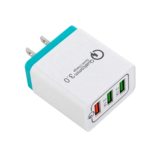 3 Ports USB Charger 3A Portable Mobile Phone Chargers Travel Dual usb Wall Charger for Samsung All Mobile Phone