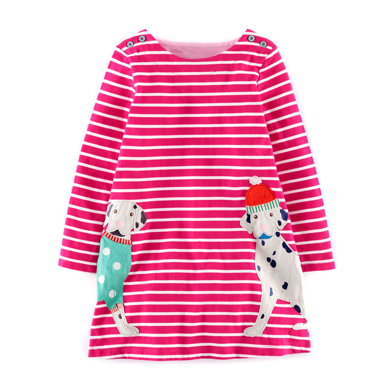 006447e8 Get Quotations · autumn/spring clothing girl child dress red stripe with  long sleeves Dalmatian design kids girls