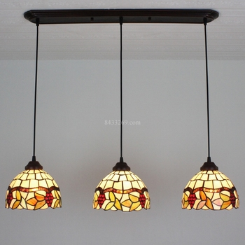 8 inch Tiffany style stained glass pendant light