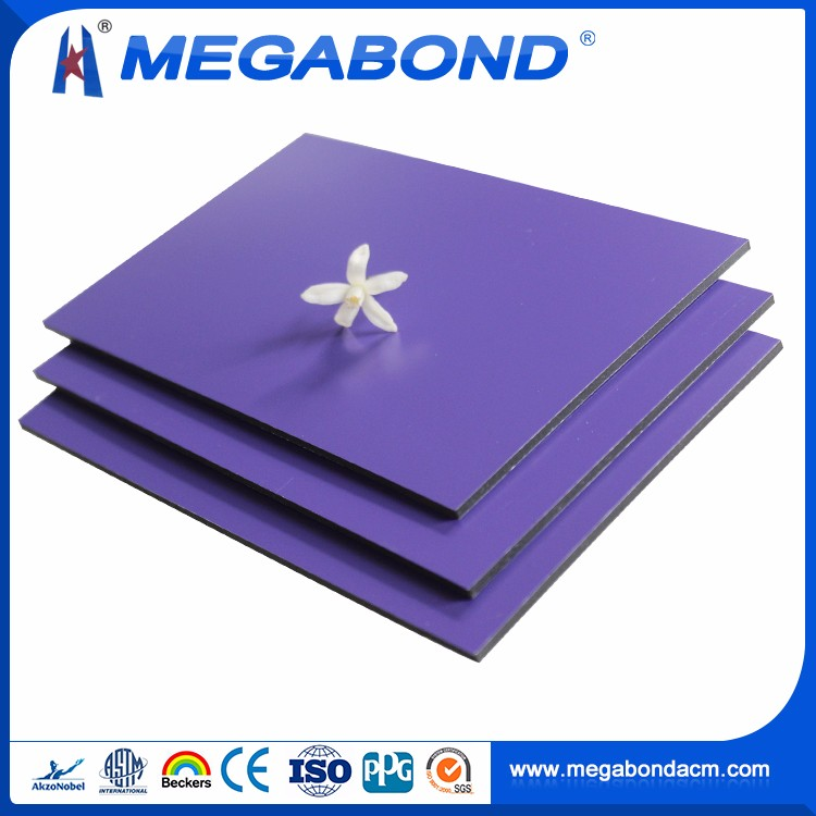 Megabond 2mm 3mm 4mm 5mm 6mm pe acp (external cladding),exterior wall cladding material 4mm pvdf
